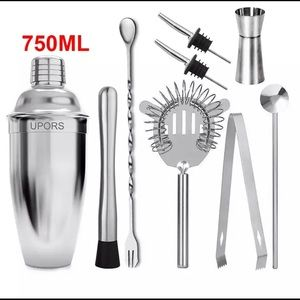 Stainless Steel Cocktail Shaker (9pcs)
